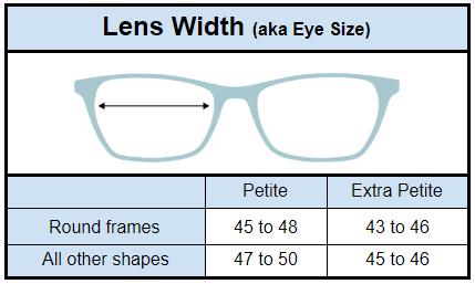 fa4405012639 What Size Are Petite Glasses? - Petite Glasses