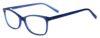 Kara Blue Rectangular Thin Plastic Size 48 Women's Petite Glasses For Small or Narrow Faces