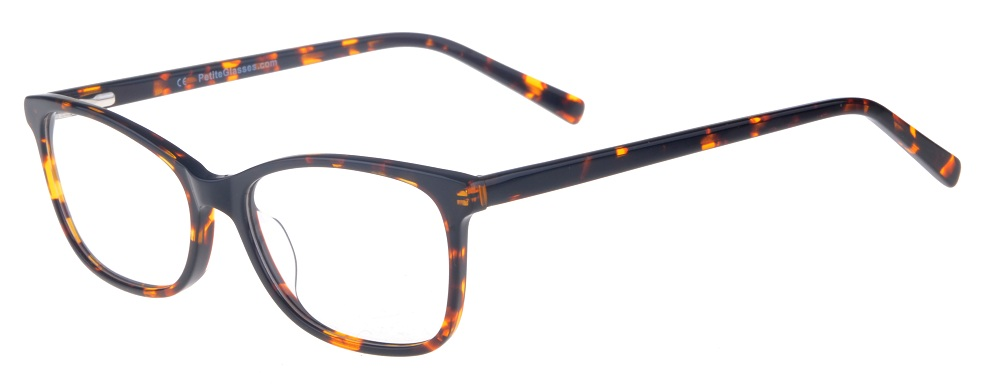 Kara Tortoise Rectangular Thin Plastic Size 48 Women's Petite Glasses For Small or Narrow Faces