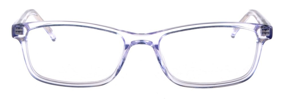 Debbie Clear Crystal Rectangular Thin Plastic Size 48 Women's Petite Glasses For Small or Narrow Faces