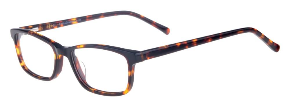 Debbie Tortoise Rectangular Thin Plastic Size 48 Women's Petite Glasses For Small or Narrow Faces