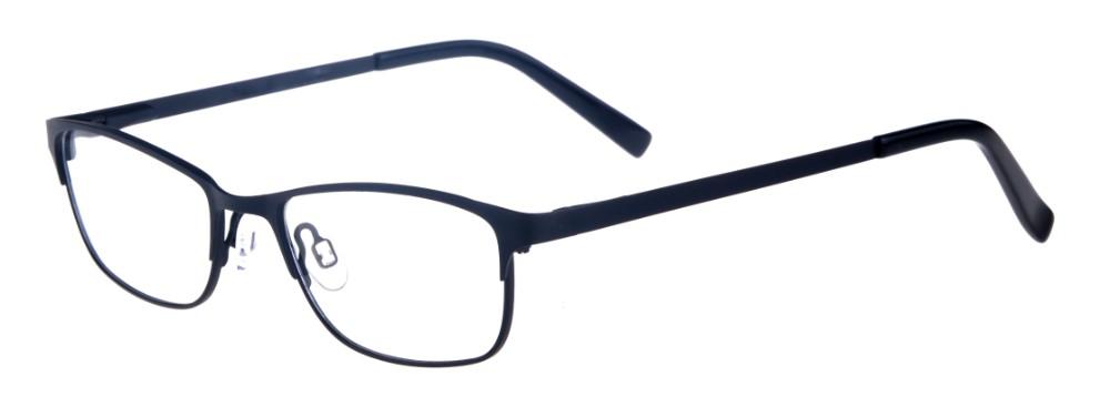 Joelee Black Rectangular Thin Metal Size 47 Women's Petite Glasses For Small or Narrow Faces