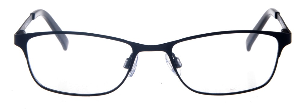 746b22481cc8e Joelee Black Rectangular Thin Metal Size 47 Women s Petite Glasses For  Small or Narrow Faces
