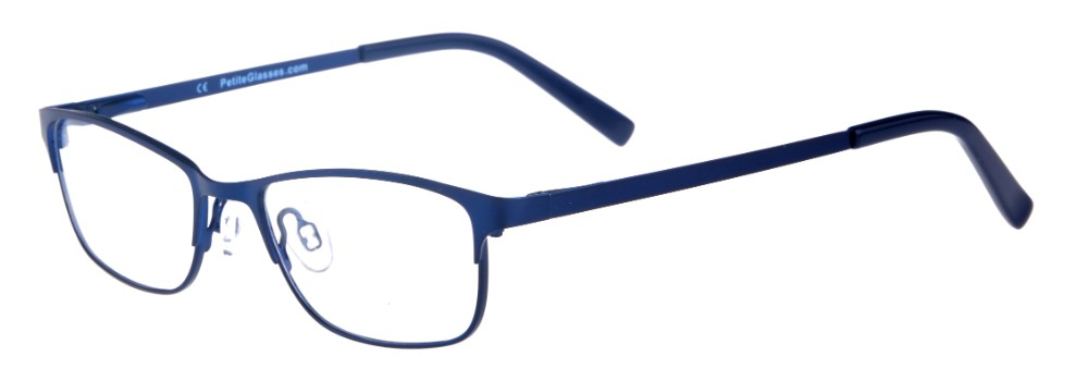 Joelee Blue Rectangular Thin Metal Size 47 Women's Petite Glasses For Small or Narrow Faces-2