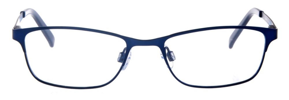 Joelee Blue Rectangular Thin Metal Size 47 Women's Petite Glasses For Small or Narrow Faces