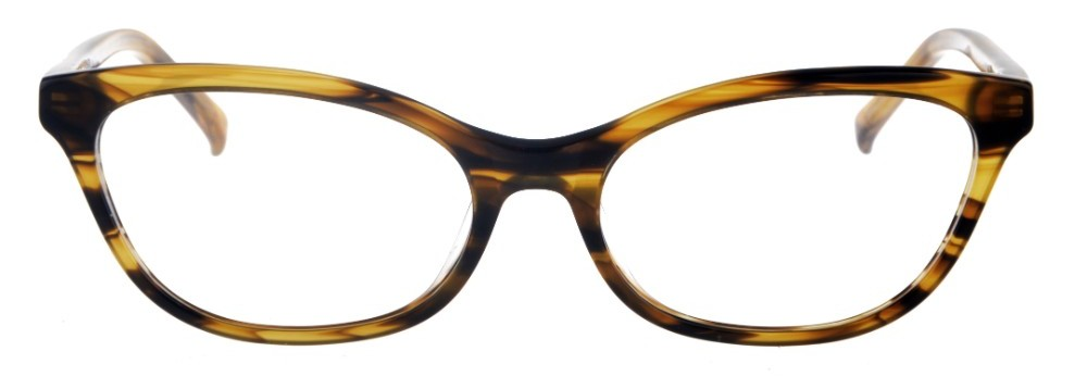 Phyllis Brown Stripe Thin Cat-Eyed Plastic Size 49 Women's Petite Glasses For Small or Narrow Faces