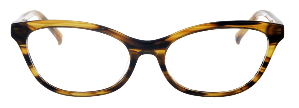 caaa964c015e9 Phyllis Brown Stripe Thin Cat-Eyed Plastic Size 49 Women s Petite Glasses  For Small or