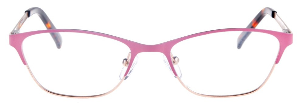Teresa Pink and Gold Thin Cat-Eyed Plastic Size 49 Women's Petite Glasses For Small or Narrow Faces
